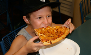 Kids love the best pizza on Maui from Nikki's Pizza at Whaler's Village