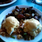 Lobster eggs benedict from Betty's Beach Cafe.