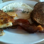 Breakfast at Mala Ocean Tavern: Bacon and Eggs