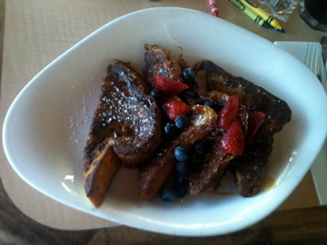 French Toast for breakfast at Mala Ocean Tavern