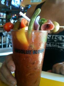 NFL Football Breakfast Spanky's Riptide Bloody Mary