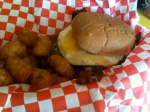 NFL Football Breakfast Spanky's Riptide Zombie Burger