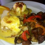 Crabcake Eggs Benedict at Captain Jack's Island Grill