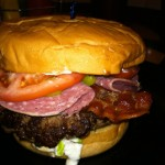 Cool Cat Cafe Burger of the Month December 2012 Greek Inspired Burger