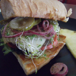 "Cool Cat Cafe Veggie Burger of the Month November 2014: ""A Havana Affair"""