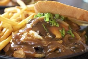 "Cool Cat Cafe Beef Burger of the Month April 2015: ""Hau'oli La Hanau!"""